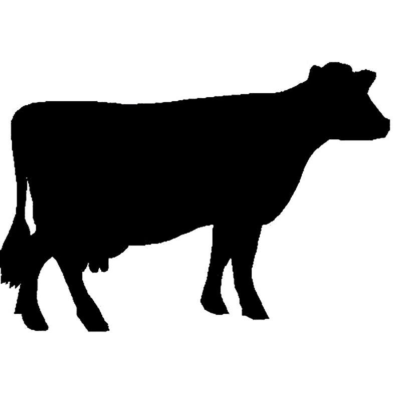 16.8cm*11.7cm Fun Cow Cattle Silhouette Vinyl Car-styling Car Stickers Decals Black/Silver S6-3431