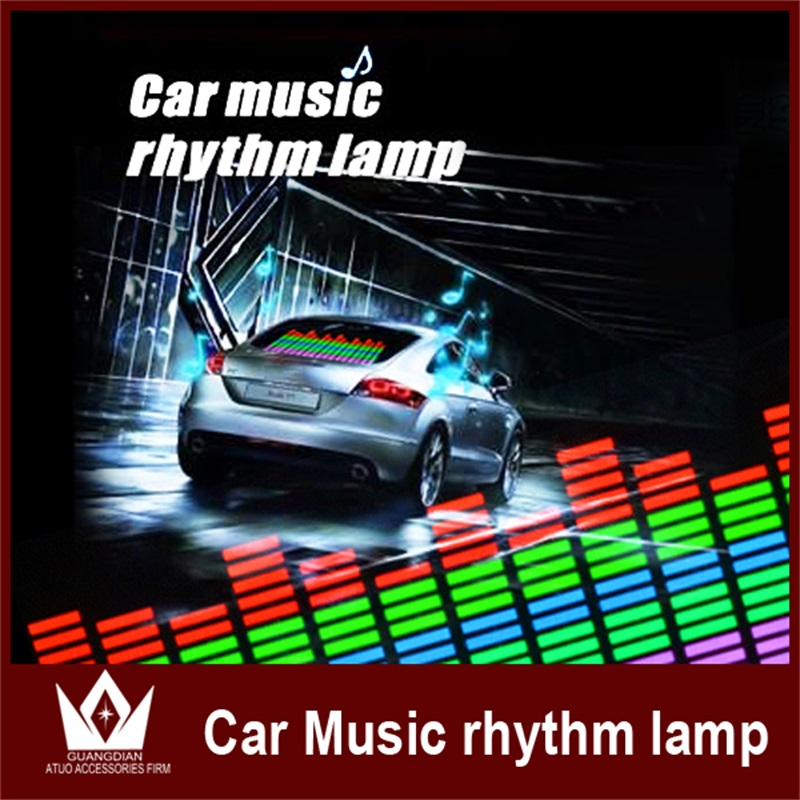 GuangDian Car Disco Light EL Music Light Sound Music Rhythm Lamp Equalizer Glow Flash Panel LED Light 114cm*30cm For VW Golf 4 car light 1pcs 2pcs 45x11cm car music rhythm led flash light lamp sound activated equalizer car light panel lamp 1219