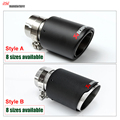 54mm/76mm Carbon Fiber Coated  Universal Car Exhaust Pipe Tip Tailtip  Akrapovic Car Exhaust for volkswagen vw golf 7