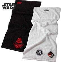 Disney star wars 34x75cm 100%Cotton Absorbent Black white solid Color Soft Comfortable Men Bathroom Travel Hand Face Towel 2pcs