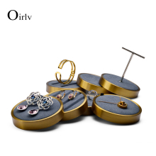 FANXI New Earring Display Holder Bracelet Display Shelf Metal Ring Pendant Showing Stand Organizer for Jewelry fanxi new metal shelf rose gold earring display stand pendant holder rack jewelry display stand showcase jewelry organizer