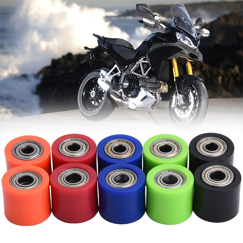 8mm 10mm Drive Chain Roller Pulley Wheel Slider Tensioner Wheel Guide For Yamaha YFZ 350 Motorcycle Motocross ATV CRF CR XR