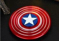 6cm Captain American Shield Hand Spinner Metal Profession Spinner ADHD Tri Spinner Fidget