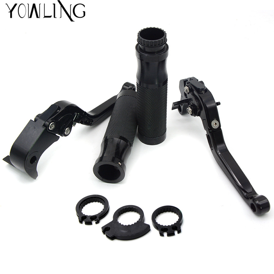 motorcycle handle bar handlebar grip 22MM levers brake clutch For Yamaha YZF R6 2005 06 07 08 09 10 11 12 13 14 adjustable cnc long brake clutch levers for yamaha yzf r6 2005 06 07 08 09 2010 11 12 13 2014 yzf r1 2004 2005 2006 07 2008 r6s