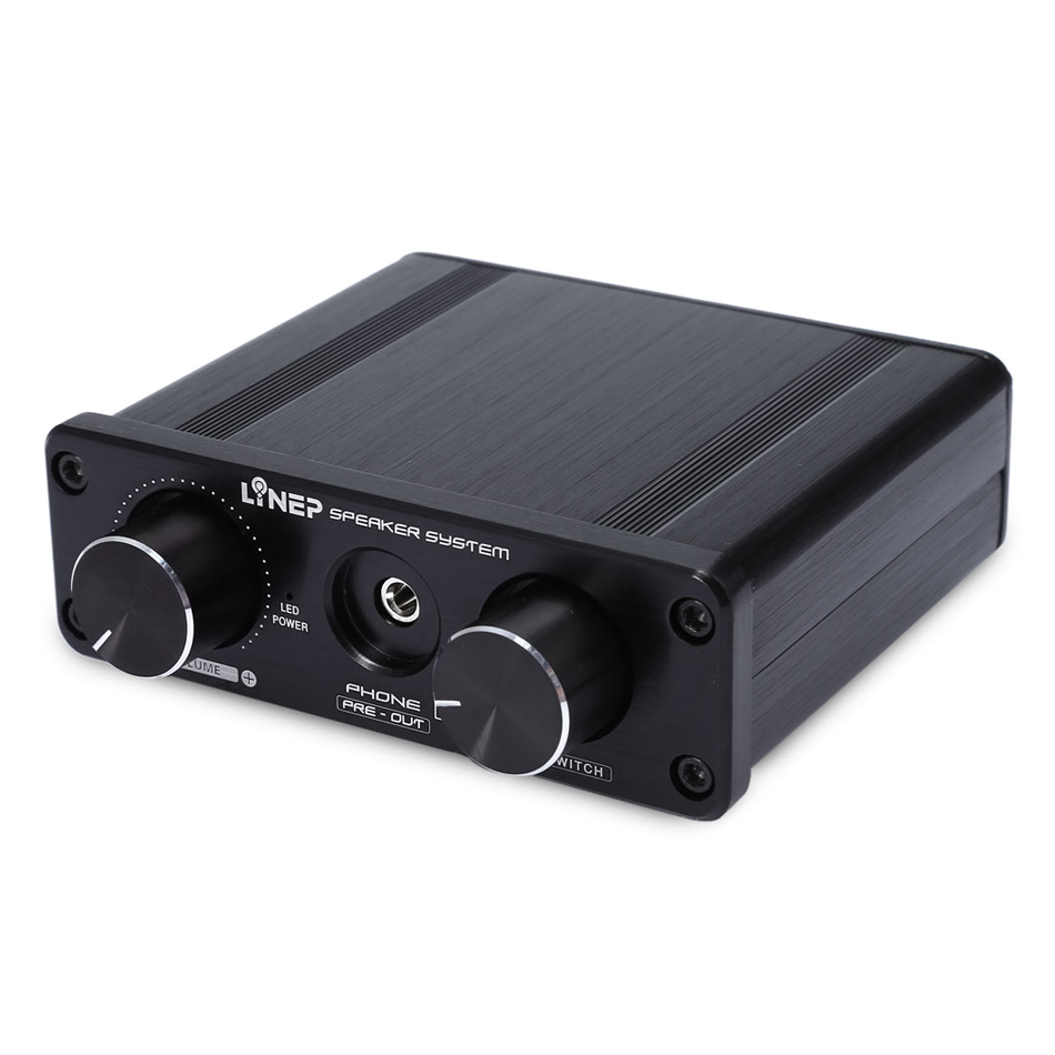 Four-In Two-Out Audio Stereo Switching Audio Amplifier Sound Processor Pre-amp