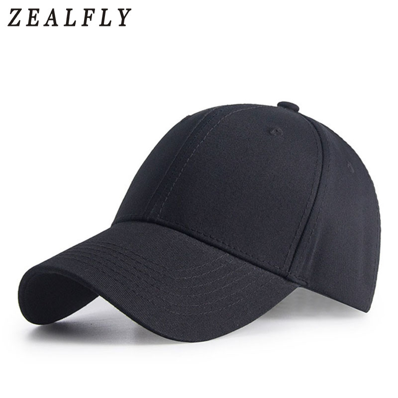 d283ad7a3fd Brand Solid White Adult Unisex Casual Adjustable Baseball Caps Snapback Hats  For Men Curved Brim Women S