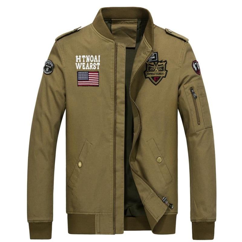 2017 nuevos hombres chaqueta de primavera chaqueta bombardero Marca - Ropa de hombre - foto 2