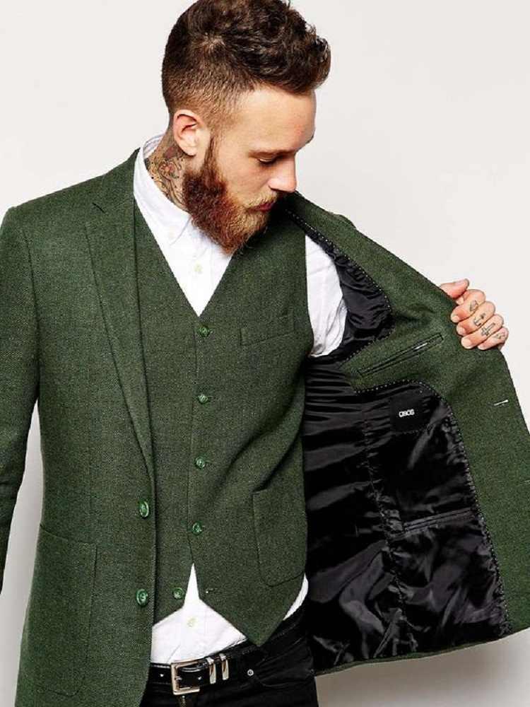 mens green vintage vests