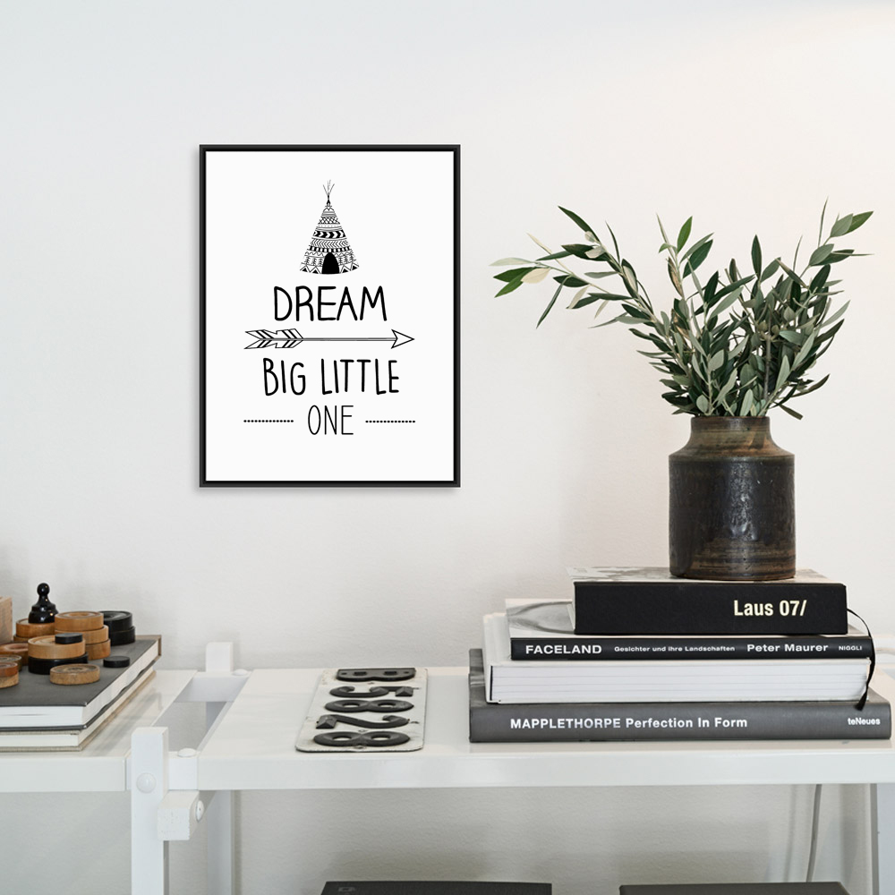 Poster design online - Poster Typography Design Black White Nordic Canvas Art Print Nursery Pictures Family Decor For Painting On