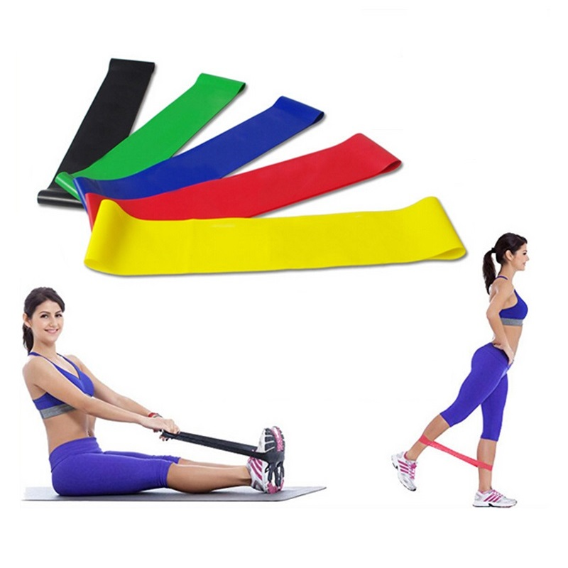 5 Colors Resistance Bands Rubber Band Workout Fitness Gym Equipment Rubber Loops Latex Yoga Gym Strength Training Athletic Bands