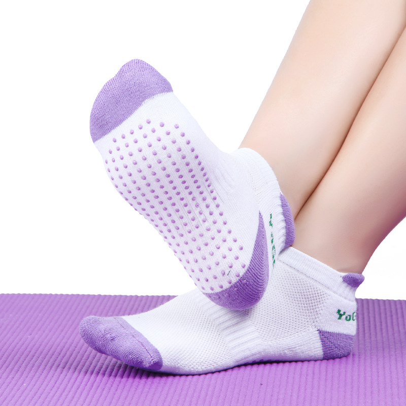 1Pair Women Professional Yoga Socks Gym Fitness Anti slip Rubber Dots Sports Indoor Exercise Socks Latex Pilates for Female Lady in Yoga Socks from Sports Entertainment