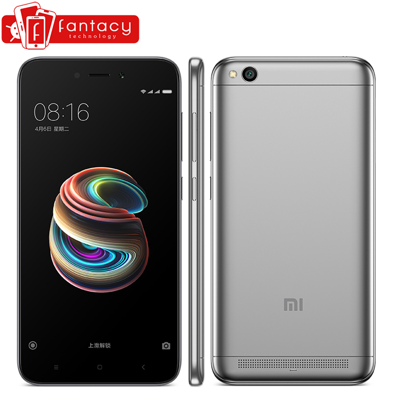 Xiaomi Redmi 5A 2GB RAM 16GB ROM Mobile Phone Snapdragon 425 Quad Core CPU 5.0 Inch 13.0MP Camera 3000mAh Battery Smartphone