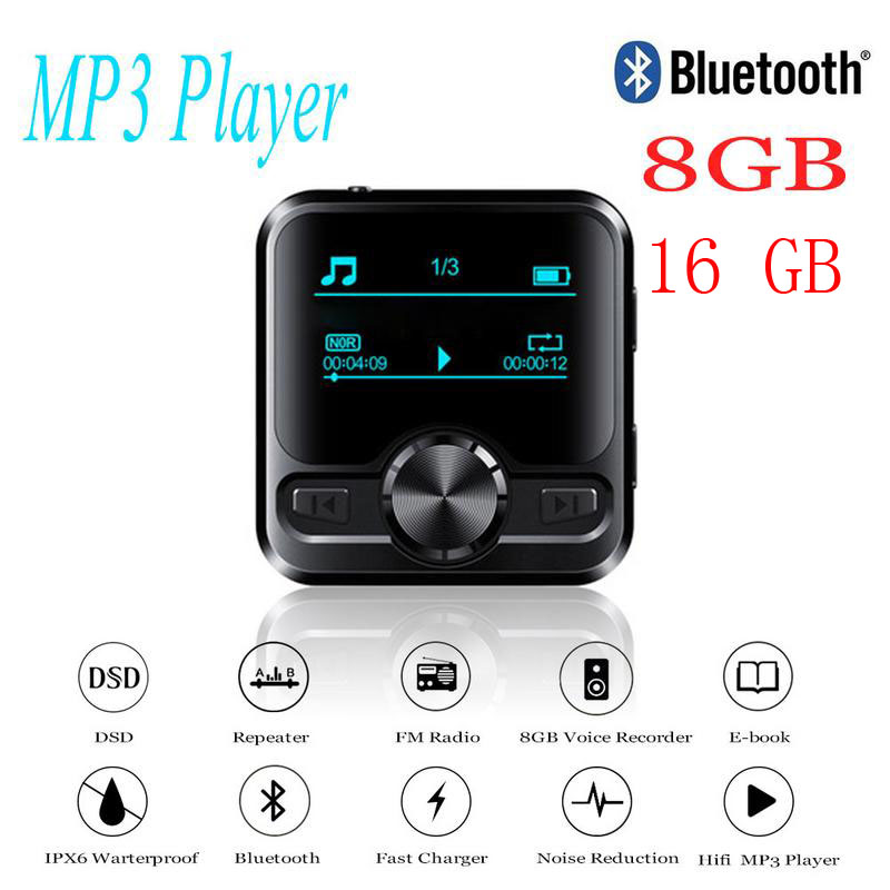 HIFI Sports Bluetooth MP3 Voice Recorder Hifi MP3 Player Bluetooth DSD 8GB Voice Recorder Pen Hifi Audio FM Radio Support E-book