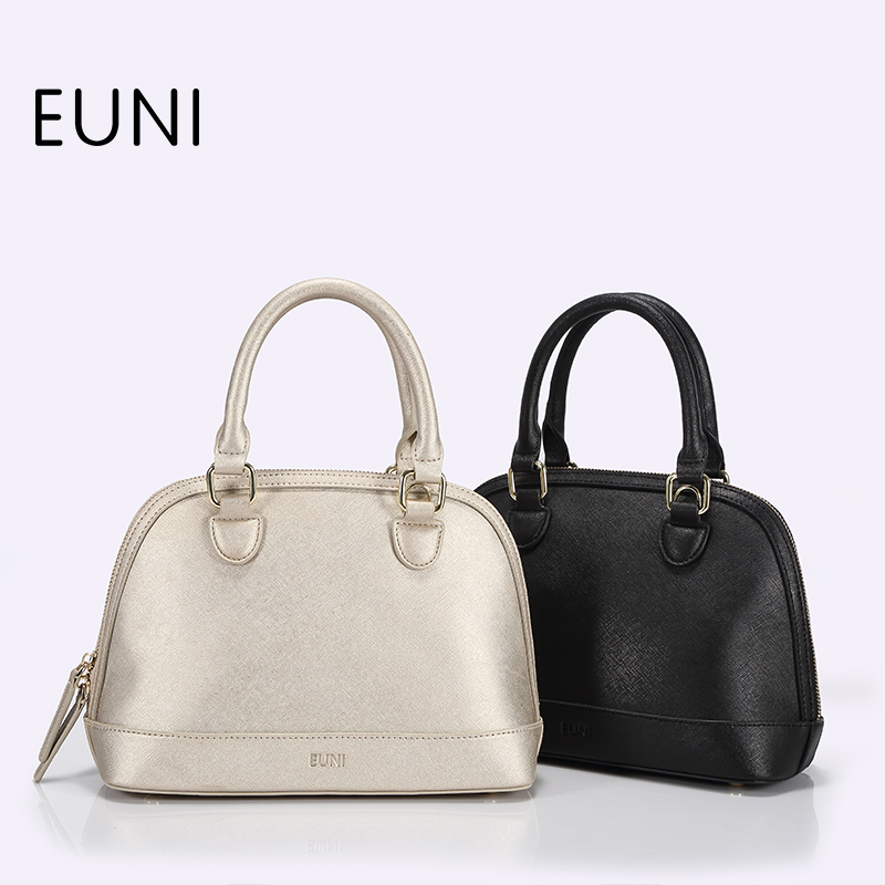 EUNI Fashion Top Quality Cowhide Luxury Handbags Women Bags Designer Vintage Ladies Leather Handbags Top Handle