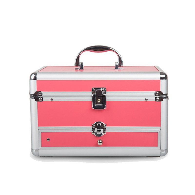 1pcs Professional Hand-held Hot Selling Cosmetic Storage Box Manicure Case Cosmetic Bag Suitcase Functional Cosmetic Case travel aluminum blue dji mavic pro storage bag case box suitcase for drone battery remote controller accessories