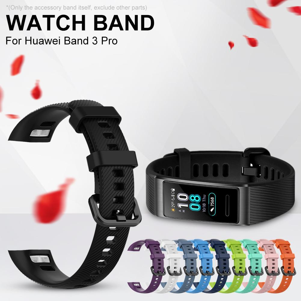 Soft Silicone Watch Band For Huawei Smart Wristwatch Band Bracelet Strap Watch Band For Huawei Band 3 Pro Bracelet Strap