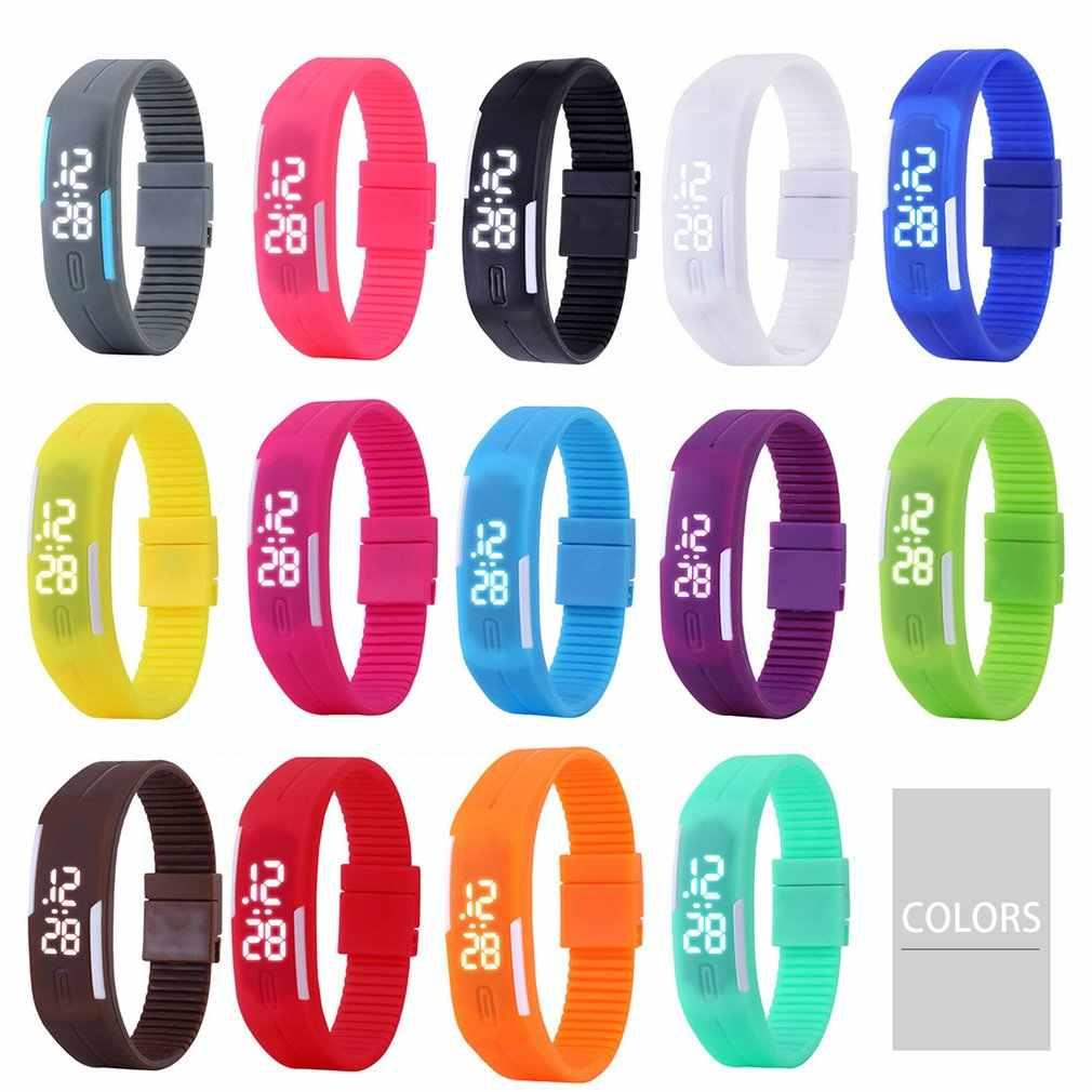 ילדי שעון ספורט פונקציה רב LED סטופר שעון יד דיגיטלי ילד שעוני יד גיל 4-12 ילד ילדה
