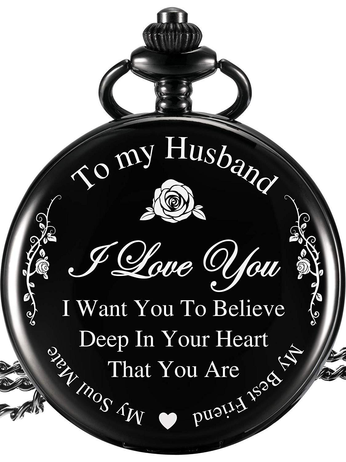 Anniversary gift Pocket Watch valentines day gift for husband present for husband wedding engagement giftAnniversary gift Pocket Watch valentines day gift for husband present for husband wedding engagement gift