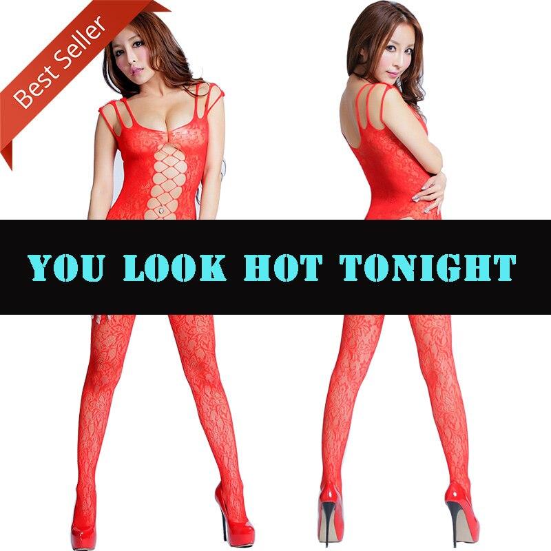 Exotic Open Crotch Bodystockings Fetish Mesh Sexy Female Lingeries Plus Size Transparent Latex Breast Open Hollowout Bodysuit in Garters from Underwear Sleepwears