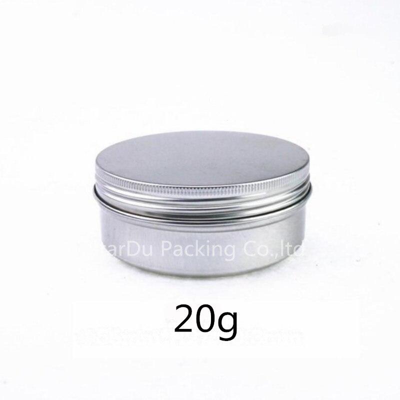 Free Shipping 50pcs 20g Aluminum Jar, 20 Gram Metal Cream Jar, Silver Aluminum Case, 20 G Metal Cosmetic Container