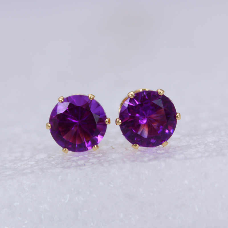 2019 new fashion brand jewelry crystal stud earrings for women tiny simple crown earrings Christmas gift