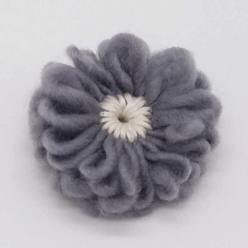 ทารกแรกเกิดเด็กทารก Diy ดอกไม้ผมอุปกรณ์เสริมสำหรับไนลอน Headbands เสื้อกันหนาวที่มีสีสันดอกไม้ Head Bands อุปกรณ์เสริม