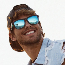DOKLY Polarized Aviation blue mirror Sunglasses men's Vintag