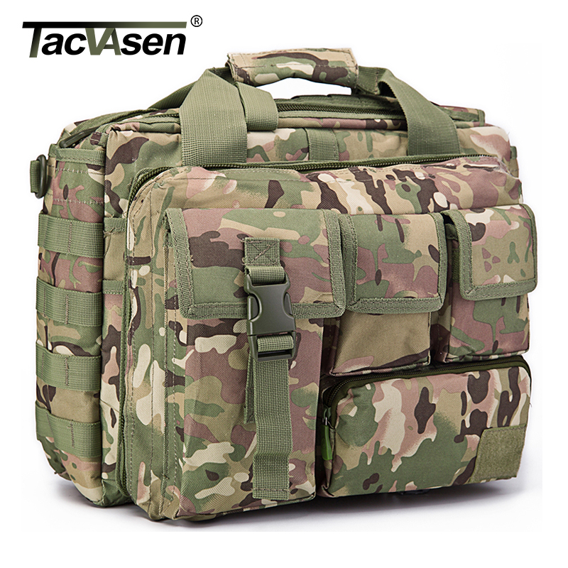 TACVASEN ผู้ชาย Tactics กระเป๋าเป้สะพายหลังกระเป๋าเดินทาง Camouflage Rucksack 15.6 นิ้วแล็ปท็อปกระเป๋าทหาร TD SZLM 017-ใน กระเป๋าเป้ จาก สัมภาระและกระเป๋า บน   3