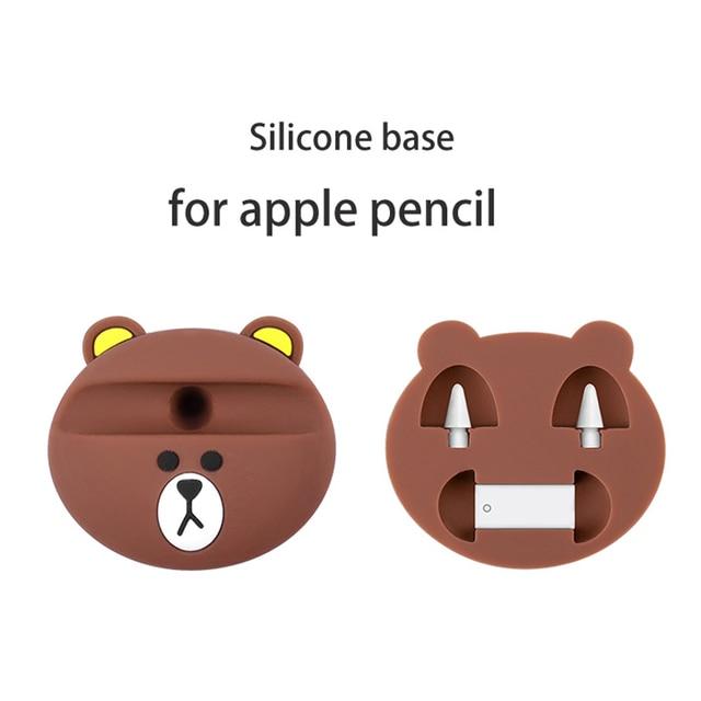 Podstawa ołówka silikonowego do Apple ołówek podstawa do przechowywania ipad pro pojemnościowy długopis akcesoria apple pen set podstawa rysika