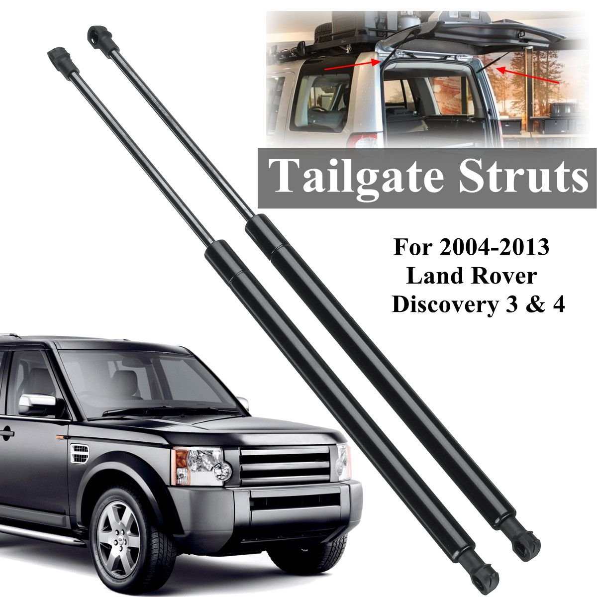 2pcs Rear Tailgate Truck Gas Struts Support For Land Rover Discovery 3&4 2004-2013 BHE780060 велосипед smart truck 2013