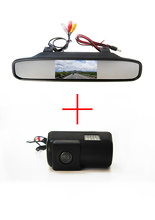 Color CCD Chip Car Rear View Camera for Ford Transit connect + 4.3 Inch  rearview Mirror Monitor