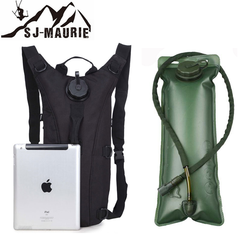 SJ-Maurie 3L Outdoor Camping Camelback Water Bag Molle Military Tactical Hunting Hydration Backpack Camel Water Bag for Cycling