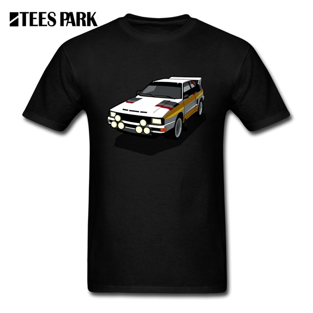 Funny T Shirts 4 Rings Rally Ur Quattro Group Car Men S Natural 100