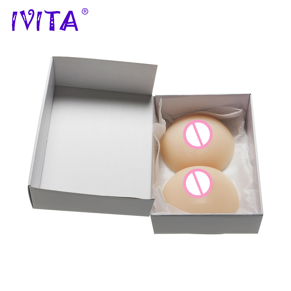 цена IVITA 800g Mastectomy Silicone Breast Forms Realistic Women Fake Boobs Enhancer Prosthesis Transgender And Crossdressing Breasts