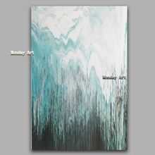 Handpainted Oil Paintings On Canvas Modern Blue Canvas Oil Painting Abstract Modern Canvas Wall Art Living Room Decor Picture