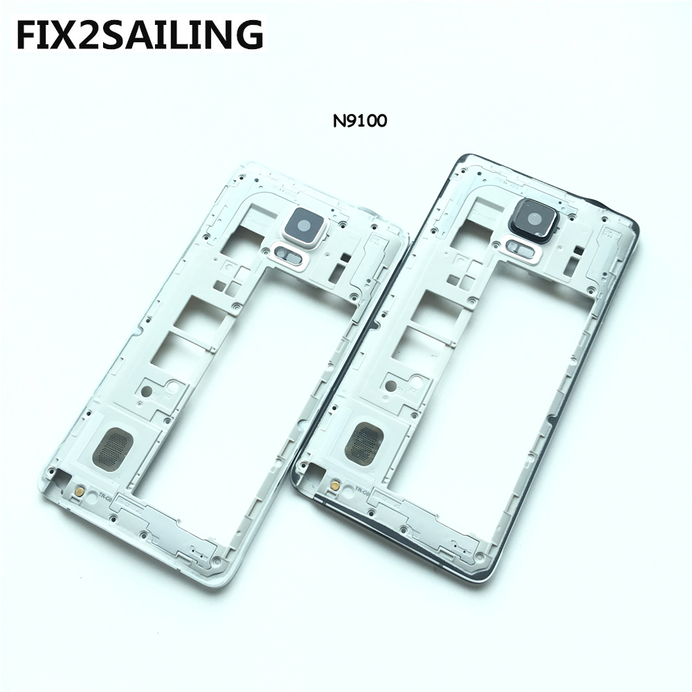 New Middle Plate Frame Bezel Housing+Side Button+Camera Glass Lens For Samsung Galaxy Note 4 N9100 White/Black-in Mobile Phone Housings from Cellphones & Telecommunications on Aliexpress.com | Alibaba Group