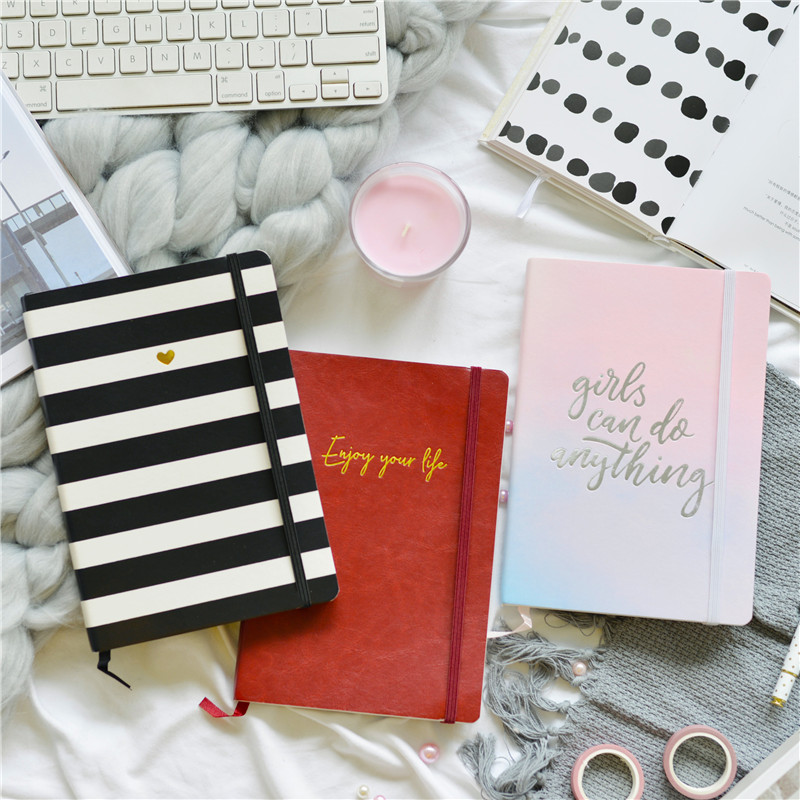 Lovedoki Cute Korean Grid Line Paper Bullet Journal Planner A5 Notebooks And Journals Diary Office & School Supplies Stationery