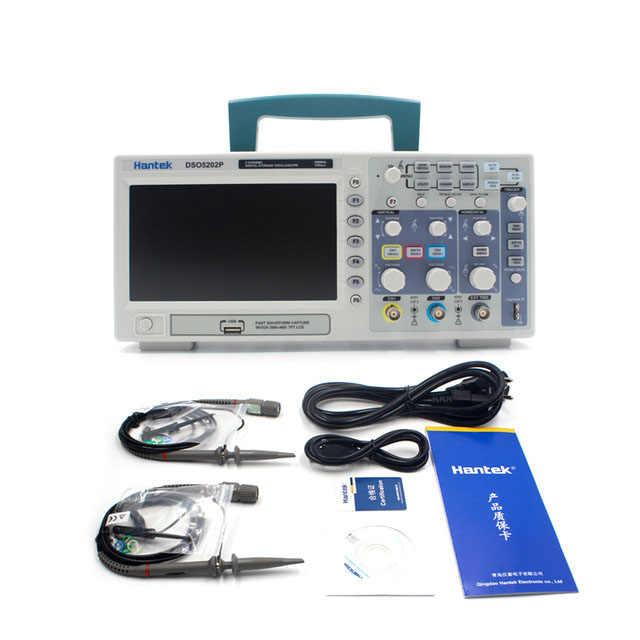DSO5202P oscilloscope de stockage numérique USB 200 MHz 2 canaux 1GSa/s 7 ''TFT LCD longueur d'enregistrement 40 K USB AC110-220V
