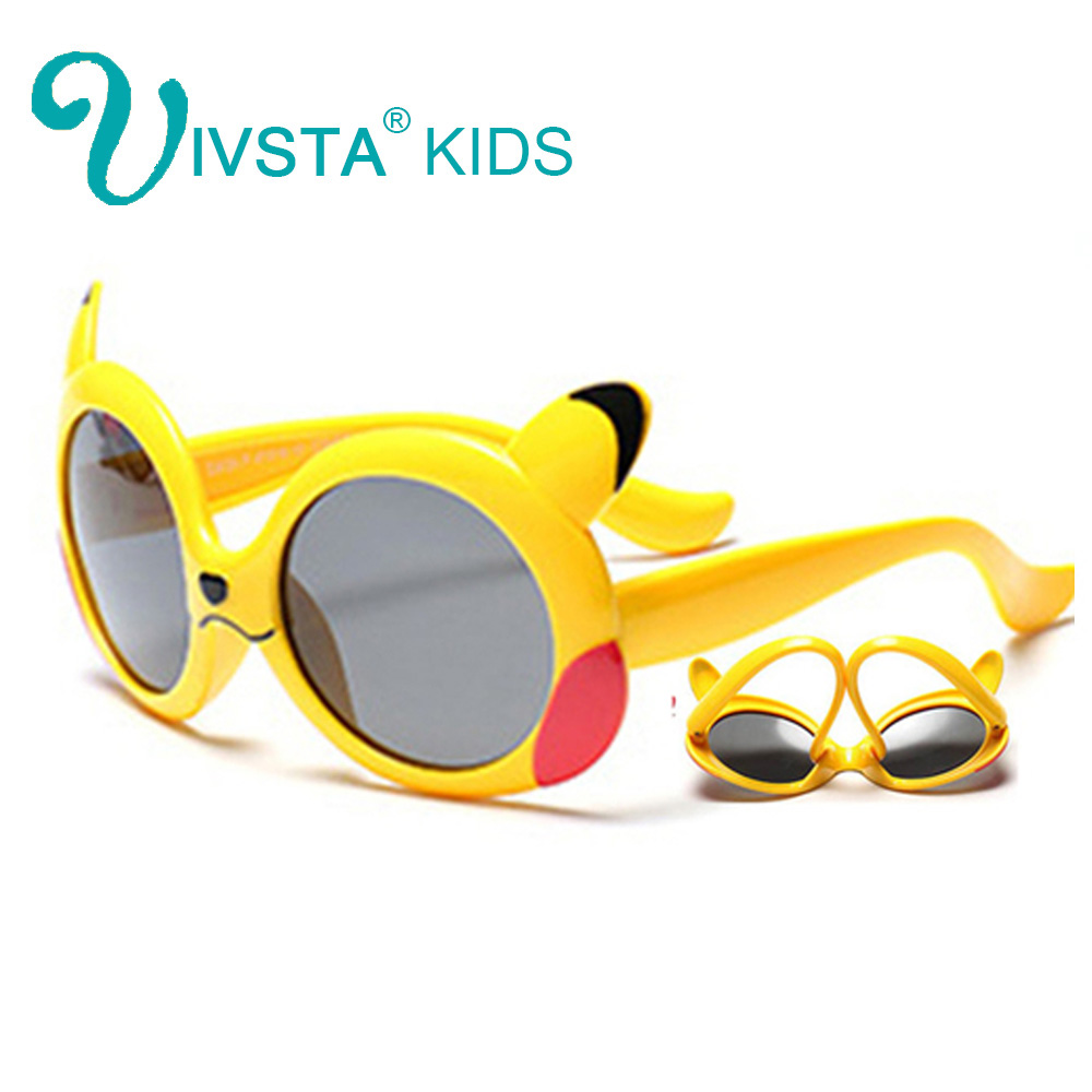 79a6bf72879b IVSTA Pokemon Pikachu 8124 Japan Cartoon yellow Flexible TR90 Sunglasses  Kids Children Sunglasses Boys Girls Summer Polarized
