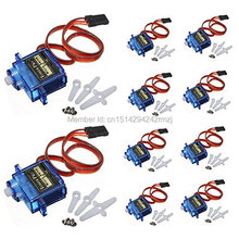 10 x Towerpro SG90 9g Mini Micro Servo for RC for RC 250 trex 450 Helicopter Airplane Car Motors For Arduino UNO Free Shipping