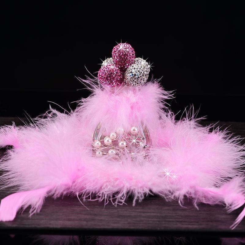 Strass Diamant Ballon Voiture Ornements De Parfum Désodorisant Auto Intérieur Accessoires Filles D'anniversaire Cadeau Décoration de La Maison