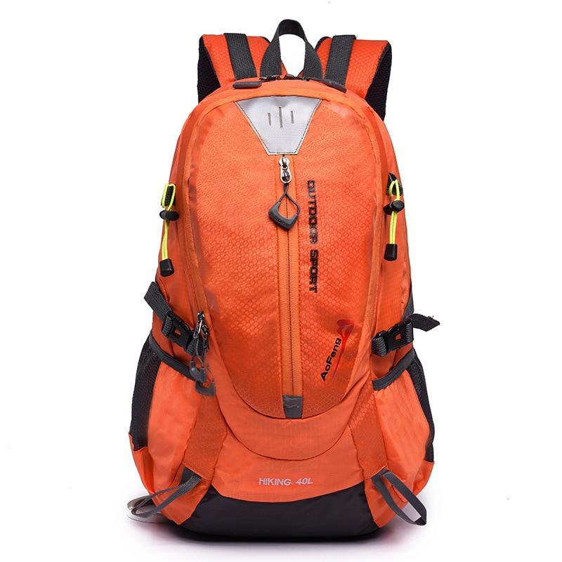 40L Outdoor Sports Nylon Backpack Men Hiking Camping Mountain Bike Bags Teenage Girls Rucksack Cycling Running Knapsack XA433YL