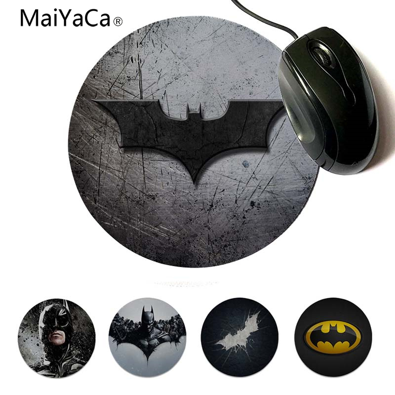 Computer & Office Mouse Pads Straightforward Maiyaca My Favorite Batman Logo Rubber Mouse Durable Desktop Mousepad Round Mouse Pad 22x22cm 20x20cm