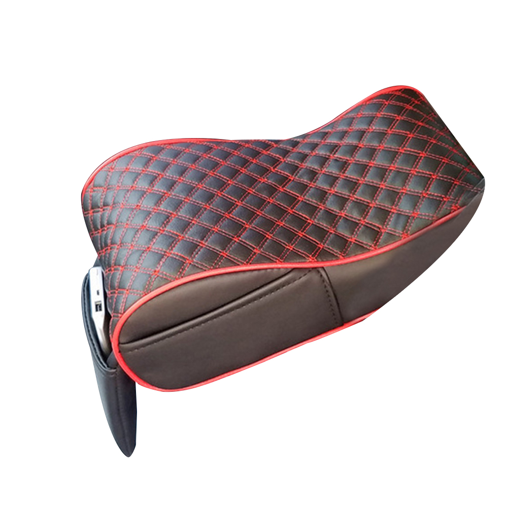 Stylish Car Central Console Armrest Box Soft Heighten Pad Cushion with Pocket