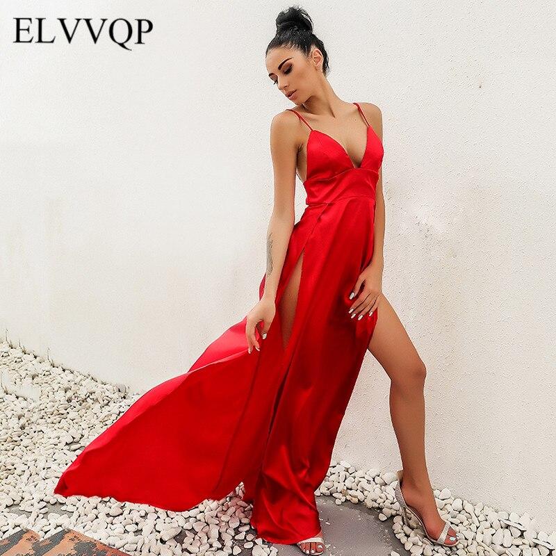 Casual Off Shoulder Party Dress Beautis Women Sexy Red Summer Maxi Dress Robe Longue Femme 2018 Split Strapless Sundress NW398