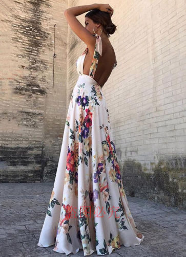 Women Vintage Long Boho Maxi Dress Party Formal Dresses Summer Beach Dress Backless Belt Floral  Feather Dress For Ladies Платье