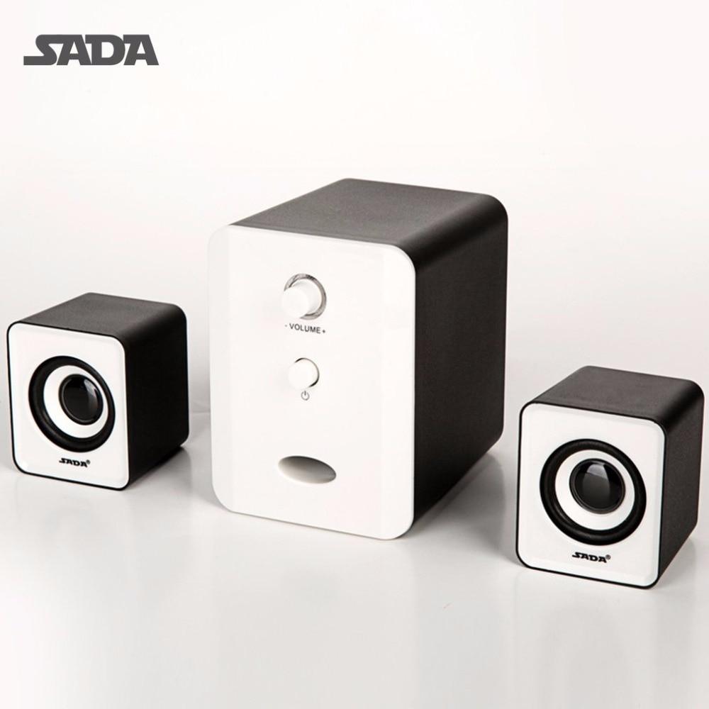 sada d 201 mini 3 5mm audio jack wired usb powered speaker 3w portable stereo music speakers for desktop pc laptop mobile phone [ 1000 x 1000 Pixel ]