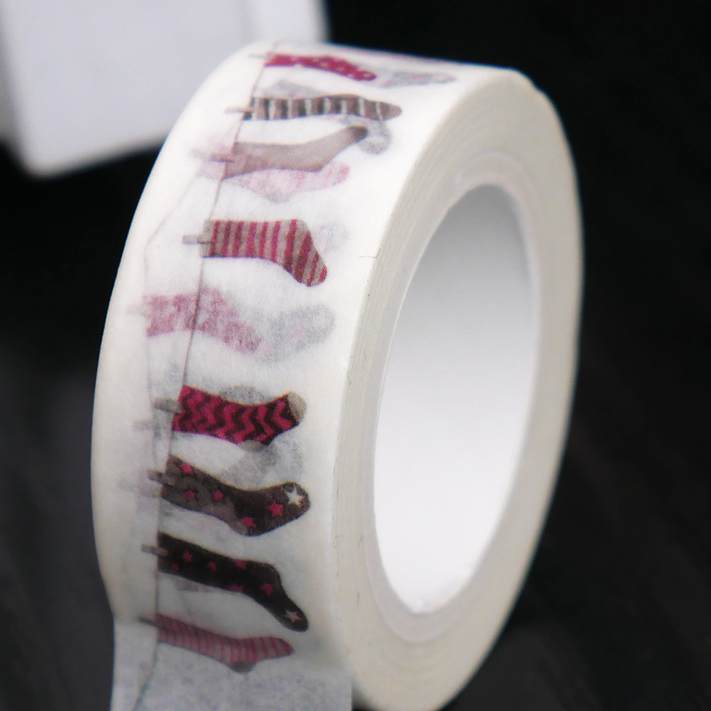 1 pc Cute Socks Washing Tape DIY Decor Scrapbook Planner Mask Adhesive Kawaii Stationery