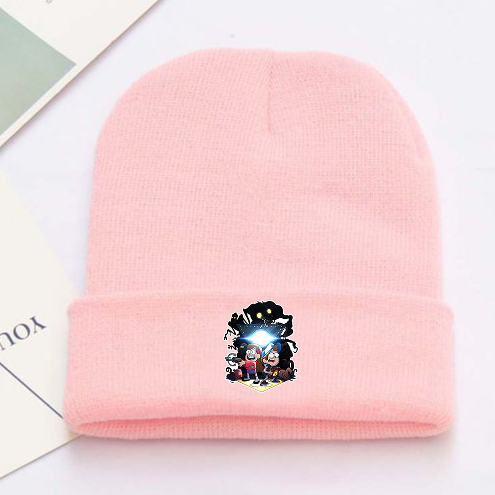 e94fc3e5 Gravity Falls Dipper Pines Blue Pine Tree Waddles Bill Cipher Zodiac Symbol  Pink Skullies Beanie Knitted Hat Cap Cosplay Costume-in Boys Costume  Accessories ...