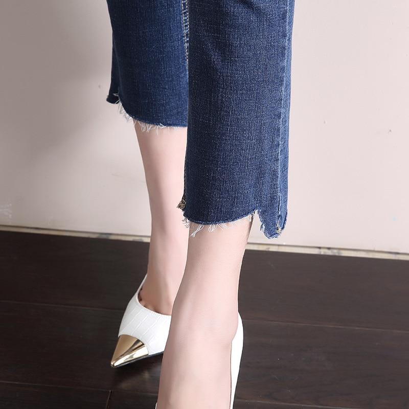 DN Racer Biker Jeans de moda Hiphop Skinny Jeans Vintage Mom Jeans, vaqueros de mamá estilo Jeans lápiz de alta calidad vaquero Denim 1FL001-016